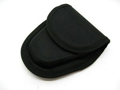 BLACK Heavy Duty Nylon HANDCUFF Cuff Tactical Belt Case POUCH New