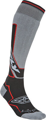 Fly Racing SKI GRY/RED S/M Moto Sock - Thick Sm-Md Grey/Red