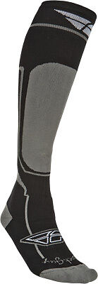Fly Racing MTN TECH S/M Moto Sock - Cold Weather Sm/Md Gray