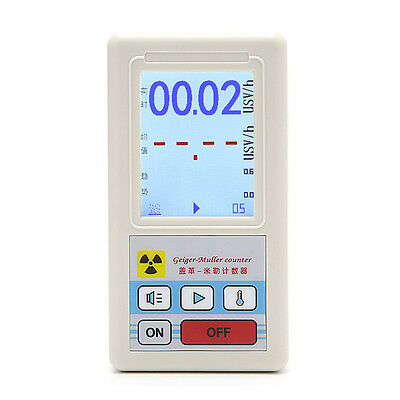 Counter Nuclear Radiation Detector Dosimeters Marble Tester With Display Screen