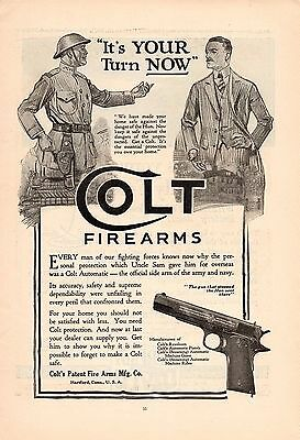 1919 Colt Automatic Pistol Ad-It's Your Turn Now