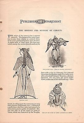 4 Page 1888 Dr. Warner's Corset Ad-The History & Mystery Of Corsets