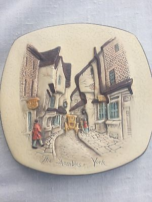 "Plaster Wall Plaque ""The Shambles York"" by Shellcraft"