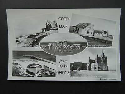 Scotland JOHN O'GROAT 5 Image Multiview - Old RP Postcard by J.Adams