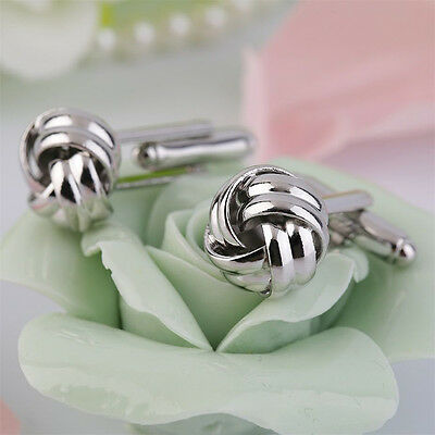 Stainless Steel Cufflinks Vintage Knot Twist Cuff Links Mens Wedding Recommended