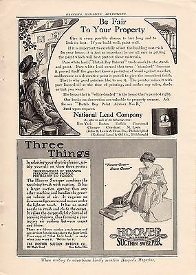 1910 Hoover Electric Suction Sweeper Vacuum Cleaner Ad