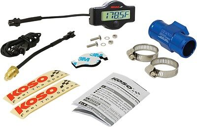 Koso BA049400-26 EX-01 Water Temp Meter with Adapters 26mm Adapter and Clamps
