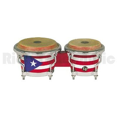 Latin Percussion LPM199-PR Puerto Rican Flag Wood Bongos