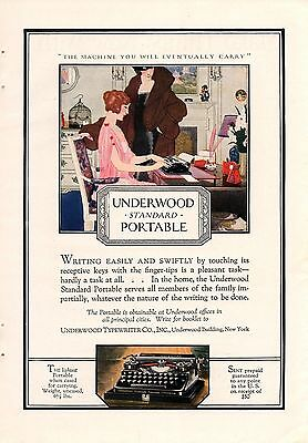 1922 Color Underwood Portable Typewriter Ad