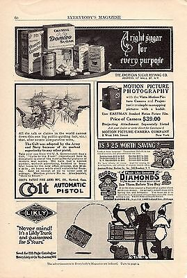 1914 Colt Automatic Pistol Ad-Adopted By Army & Navy