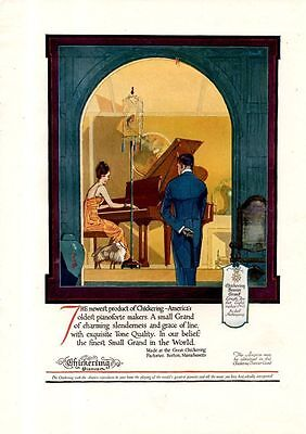 1920 Color Chickering Brevier Grand Piano Ad