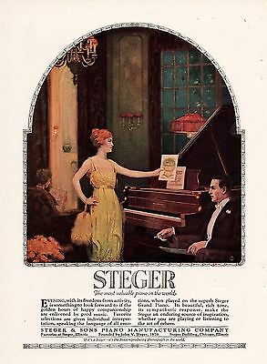 1920 Color Steger & Sons Piano Ad