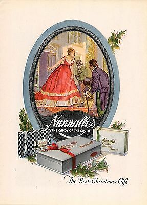 1920 Color Nunnally's Candy Of The South Ad-Best Xmas Gift