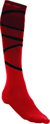 Fly Racing 350-0422S MX Sock Sm/Md Red/Black Thick