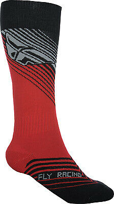 Fly Racing 350-0432S MX Sock Sm/Md Red/Black Thin