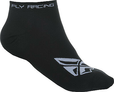 Fly Racing 350-0390S No Show Sock Sm/Md Black/White