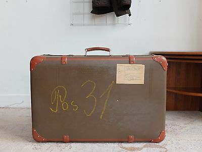 True Vintage Braun 60er Reisekoffer Oldtimer Koffer Antique Travel Case Pos. 31