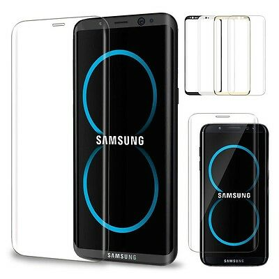 Samsung Galaxy S8 / S8 Plus Tempered Glass Screen Protector 3D Curved Edge 4 CLR