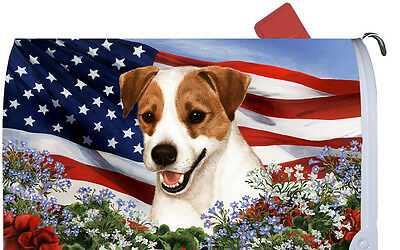 Patriotic Mail Box Cover - Jack Russell Terrier 09024