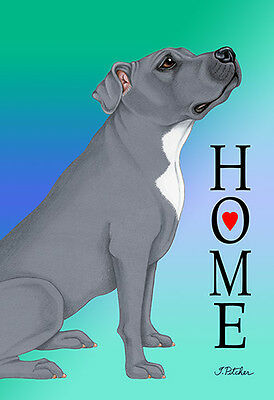 Garden Indoor/Outdoor Home (TP) Flag - Blue Pit Bull Terrier 625001