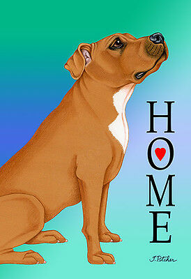 Garden Indoor/Outdoor Home (TP) Flag - Brown Pit Bull Terrier 620931