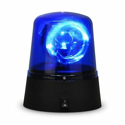 Rotating Blue LED Police Car Beacon Disco Party DJ Light Lamp Rave Strobe Siren