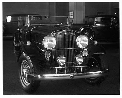 1932 Nash Twin Ignition Eight ORIGINAL Factory Photograph Glass Negative oad4396