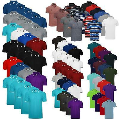 New Pack of 4 Mens Polo Shirt Short Sleeve Plain Pique Top Designer TShirt Tee