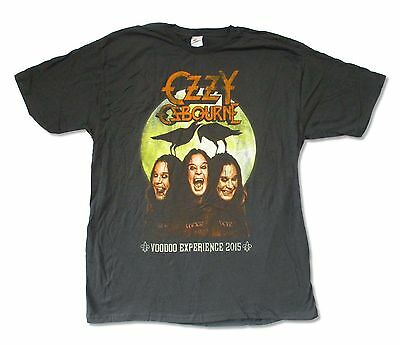 Ozzy Osbourne Triple Fangs Event 2015 Mens Charcoal T Shirt New Official Adult