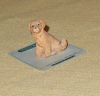 Itty Bitty World Collection 1986 Golden Retriever Resin Figurine Made in USA