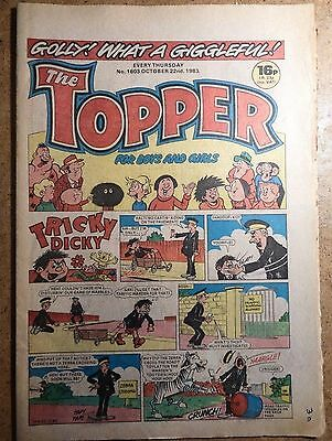The Topper Comic No.1603 October 22nd 1983 Vintage Old British Comics
