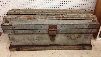 Antique Strong Box~Stagecoach~Train~Safe~Railroad~Steamer~Trunk~Vanderman?~Cash