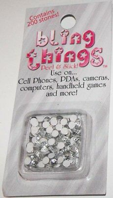 White Stones Cell Phone Jewelry BLING THING STICKERS - MAKE YOUR OWN DECAL