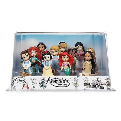 Disney  Animators'  11 piece  Deluxe Figure Play Set/Cake Topper New in Box