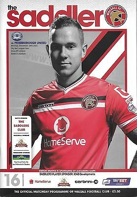Football Programme WALSALL v PETERBOROUGH UNITED Dec 2015