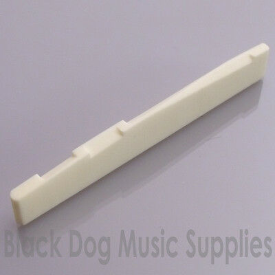 Bone acoustic guitar compensated saddle / bridge white 76mm  x 3mm  (12mm)