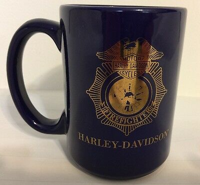 Harley Davidson Motorcycles Firefighter Coffee Mug Cup