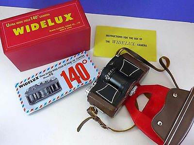 WIDELUX F8 camera w/case, instructions, Ultra wide PANON Japan