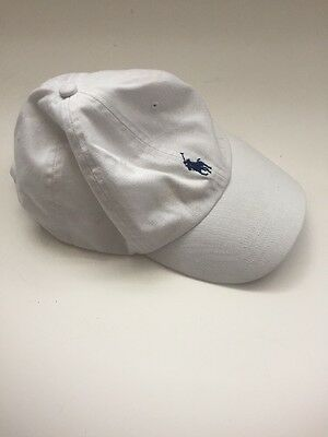 Polo Ralph Lauren White Golf Cap Hat Leather Adjustable Band