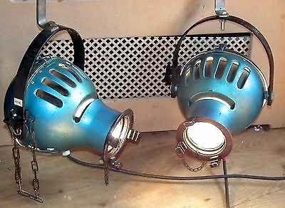 Pair Of Vintage Furse Theatre Stage Spot lights Lamps Industrial - Working Bulbs