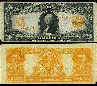 FR. 1182 $20 1906 Gold Certificate Problems Very Fine