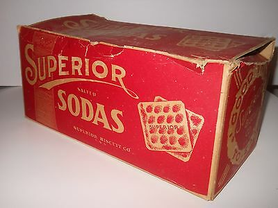 "Vintage Superior Biscuit Co. Usa Box - 12"" X 5 1/2"" X 5 1/2"""