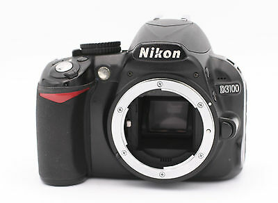 Nikon D D3100 14.2MP Digital SLR Camera - Black (Body Only) - Shutter Count:2130