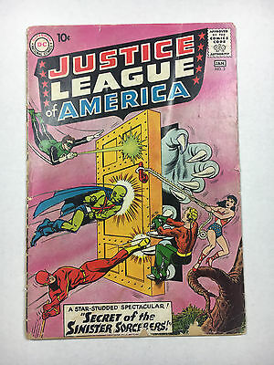 Justice League Of America #2 G DC comic 1960 Mickey Mantle bc