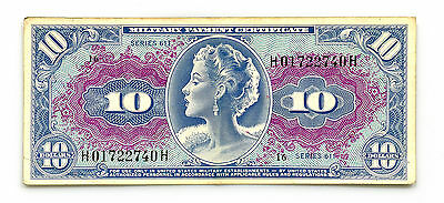 US MPC 10 Dollars Series 611 P-M56 1964-69 Nice Abt. vf