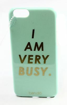 Ban.Do NEW Blue I Am Very Busy Iphone 6 Snap On Women's Hardcover Case $38- #042