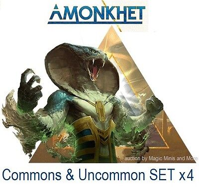 AMONKHET Magic the Gathering UNCOMMON SET x 4 + COMMON (500 Random)
