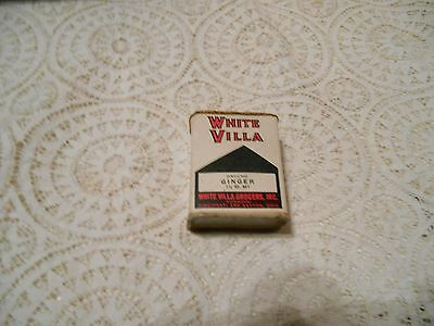 5Vintage White Villa Ground Ginger 1 1/2 Oz.Metal paper label