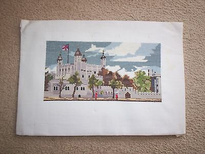 Tower Of London - Completely Worked Tapestry...is This Petit Point?
