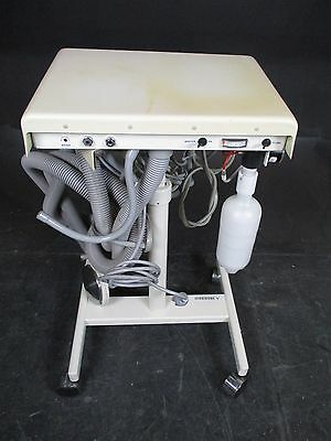 DentalEZ AS3000 Dental Delivery System Cart w/ 3 5-Hole Handpiece Connections